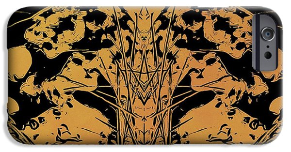Sacrifice Mixed Media iPhone Cases - Day Of The Dead iPhone Case by Dan Sproul