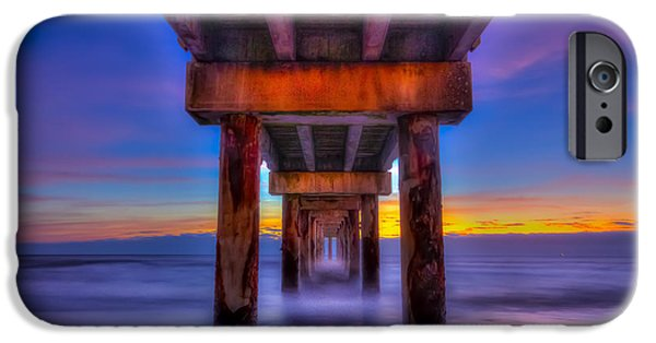 Sweeps iPhone Cases - Daybreak At The Pier iPhone Case by Marvin Spates