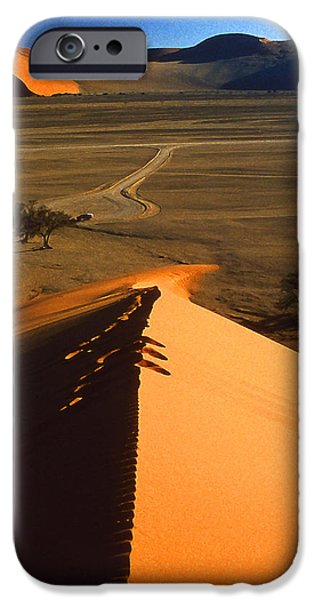 Sand Dunes Mixed Media iPhone Cases - Daybreak in the Namib iPhone Case by Anthony Dalton