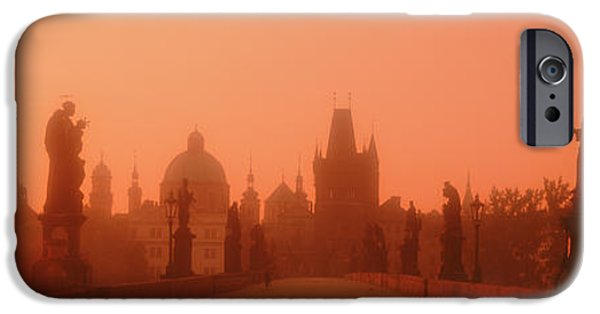 Daybreak iPhone Cases - Daybreak Karluvmost Praha Czech Republic iPhone Case by Panoramic Images