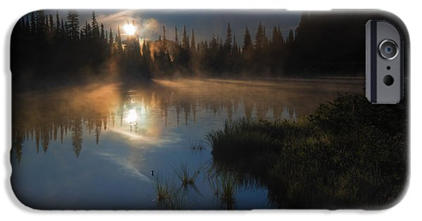 Mist iPhone Cases - Daybreak iPhone Case by Mike Dawson