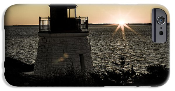 New England Lighthouse iPhone Cases - Days End At Castle Hill iPhone Case by Andrew Pacheco