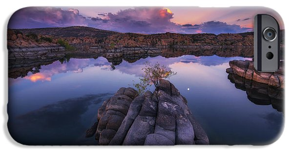 Watson Lake iPhone Cases - Days End iPhone Case by Peter Coskun