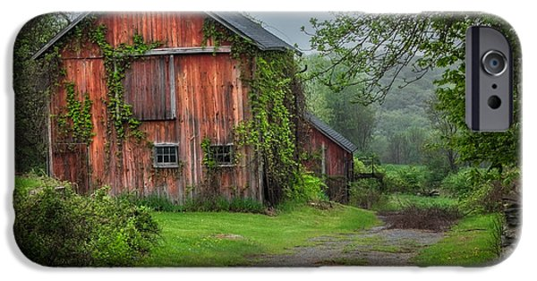 Old Barns iPhone Cases - Days Gone By iPhone Case by Bill  Wakeley