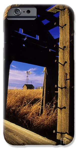 Farm Building iPhone Cases - Days Gone By iPhone Case by Bob Christopher