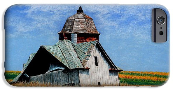 Old Barn Drawing iPhone Cases - Days Gone By iPhone Case by Kimberly Shinn
