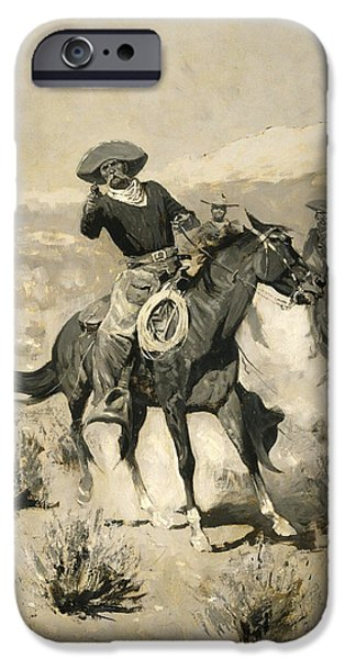 Frederic Remington iPhone Cases - Days on the Range iPhone Case by Frederic Remington