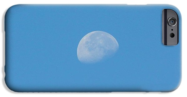 Moonscape iPhone Cases - Daytime Moon iPhone Case by D Hackett