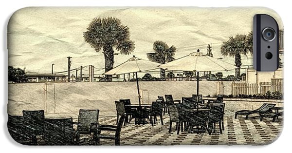 Patio Table And Chairs iPhone Cases - Daytona Patio iPhone Case by Pamela Blayney