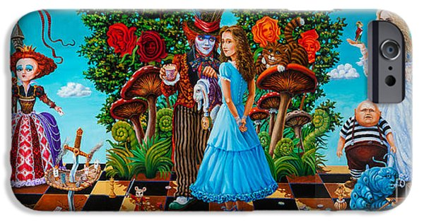 Mad Hatter iPhone Cases - Daze of Alice iPhone Case by Igor Postash