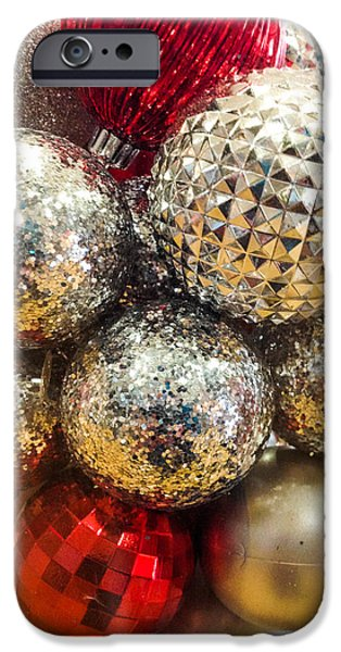 Santa iPhone Cases - Dazzling Christmas iPhone Case by Optical Playground By MP Ray