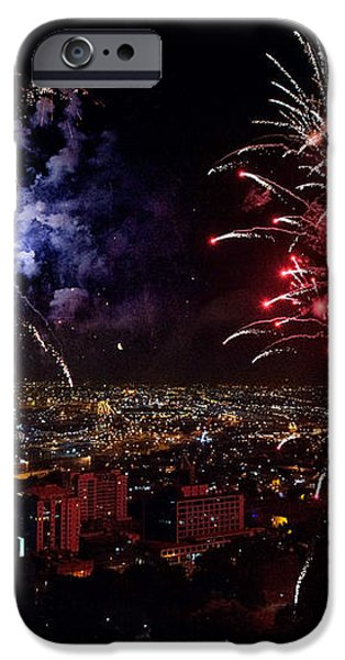 Dazzling Fireworks II iPhone Case by Ray Warren