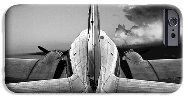 Aeronautical iPhone Cases - DC-3 Rear View 1 iPhone Case by Maxwell Amaro