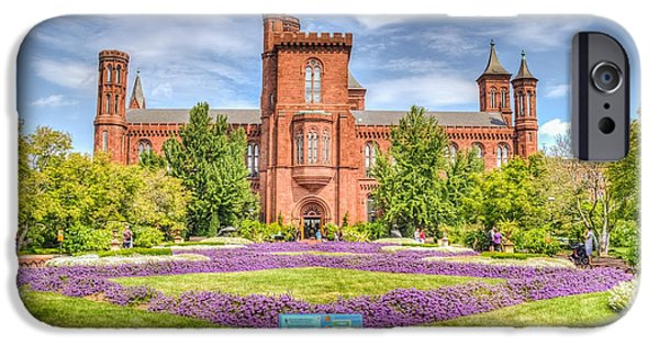 Smithsonian iPhone Cases - DC Castle Lawn iPhone Case by Dado Molina