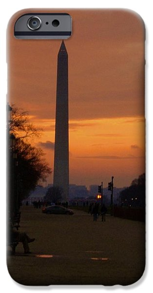 D.c. Pyrography iPhone Cases - DC Sunset iPhone Case by Andrew Johnson