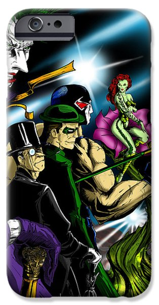 The Kingpins iPhone Cases - DC Villains iPhone Case by Alexiss Jaimes