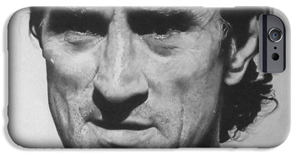 Robert De Niro Drawings iPhone Cases - De Niro iPhone Case by Mike OConnell