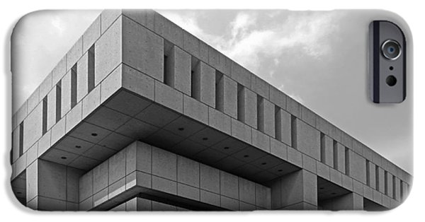 Brutalist iPhone Cases - De Paul University Schmitt Academic Center iPhone Case by University Icons