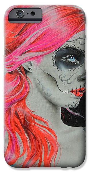Cool Art iPhone Cases - De Rerum Natura iPhone Case by Christian Chapman Art