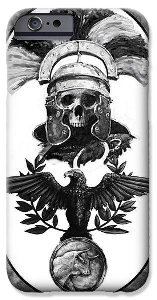 Roman iPhone Cases - Dead Centurion iPhone Case by Matt Kedzierski