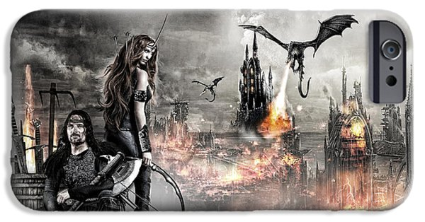 Warrior Goddess Photographs iPhone Cases - Dead City iPhone Case by Wendy White