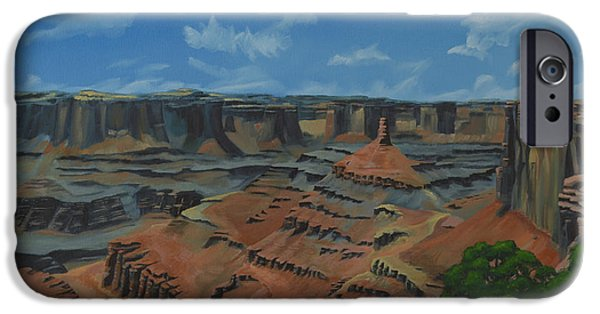 Pinion Paintings iPhone Cases - Dead Horse Point iPhone Case by Nick Froyd