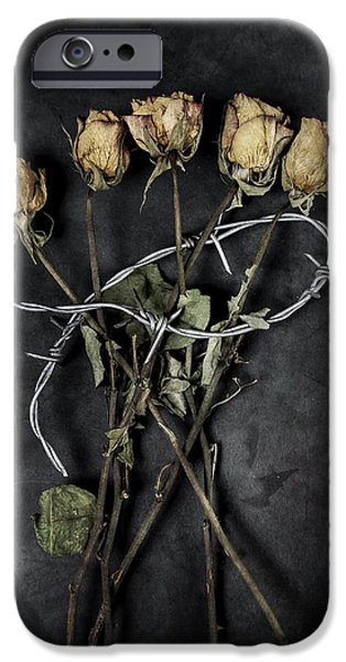 Creepy iPhone Cases - Dead Roses iPhone Case by Joana Kruse