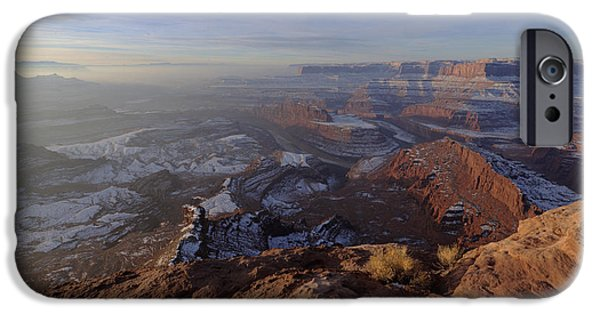 Morning iPhone Cases - Deadhorse Point iPhone Case by Chad Dutson