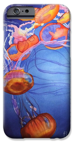 Jellyfish iPhone Cases - Deadly Beauty iPhone Case by Amanda Schuster