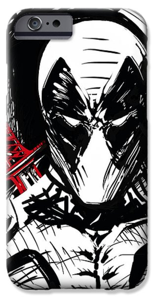 Xmen iPhone Cases - Deadpool iPhone Case by Guillermo Silva