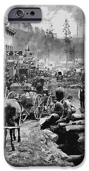DEADWOOD SOUTH DAKOTA c. 1876 iPhone Case by Daniel Hagerman