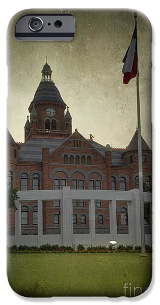 President iPhone Cases - Dealey Plaza iPhone Case by Joan Carroll