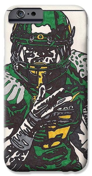 De'Anthony Thomas iPhone Case by Jeremiah Colley