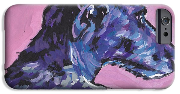 Scottish Dog iPhone Cases - Dear Hound iPhone Case by Lea