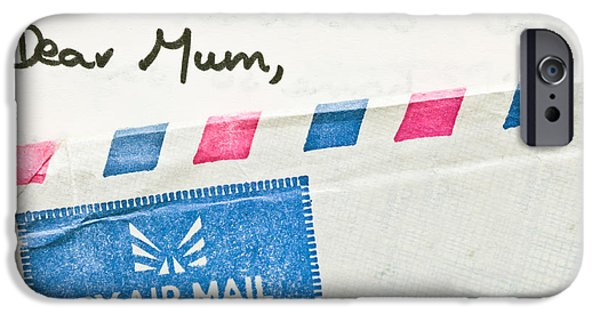 Keeping In Touch Photographs iPhone Cases - Dear Mum iPhone Case by Tom Gowanlock