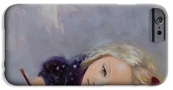 Christmas Card Art iPhone Cases - Dear Santa... iPhone Case by Dorina  Costras