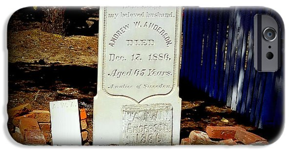 Headstones iPhone Cases - Dearly Departed iPhone Case by Donna Spadola