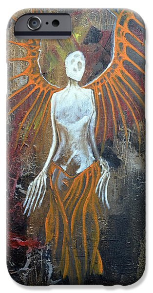 H.r. Giger iPhone Cases - Death Angel iPhone Case by Jakub DK