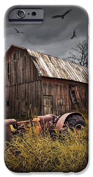 iPhone Cases - Death of a Small Midwest Farm iPhone Case by Randall Nyhof