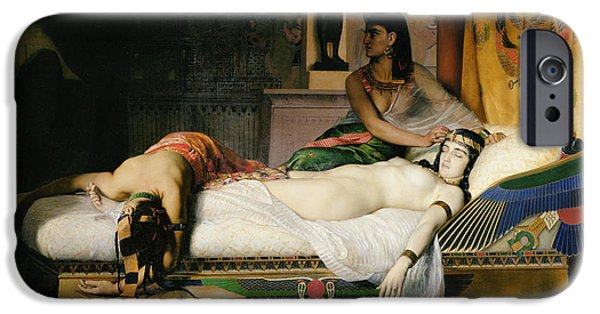 Orientalists Photographs iPhone Cases - Death Of Cleopatra, 1874 Oil On Canvas iPhone Case by Jean-Andre Rixens