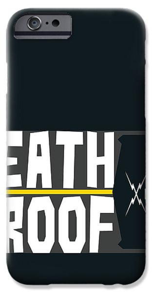 Death Proof iPhone Cases - Death Proof Poster iPhone Case by Geraldinez