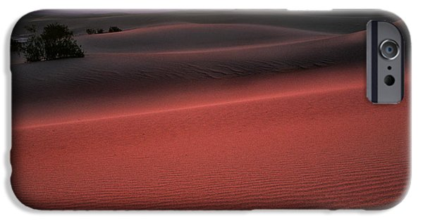 Sand Dunes iPhone Cases - Death Valley Sunrise iPhone Case by Inge Johnsson