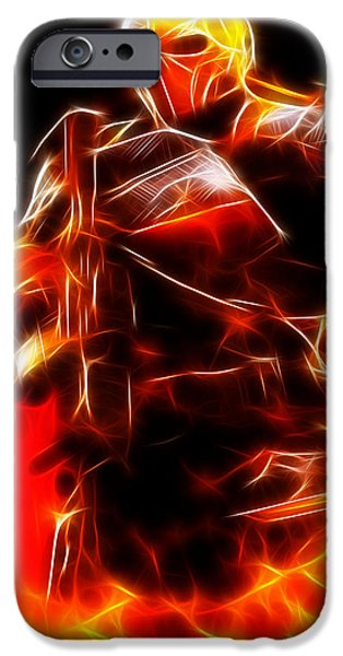 Dc Universe iPhone Cases - Deathstroke The Terminator iPhone Case by Pamela Johnson