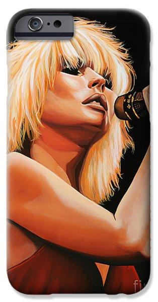 Punk iPhone Cases - Deborah Harry or Blondie 2 iPhone Case by Paul  Meijering