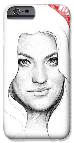 Debra Morgan Portrait - DEXTER iPhone Case by Olga Shvartsur