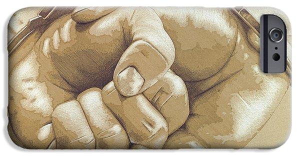 Finance Drawings iPhone Cases - Debt iPhone Case by Peter  McEwan