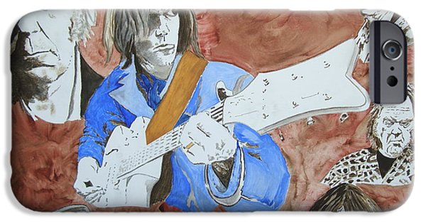 Neil Young Paintings iPhone Cases - Decades iPhone Case by Stuart Engel