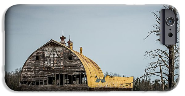 Old Barn Poster Photographs iPhone Cases - Decaying Barn iPhone Case by Paul Freidlund