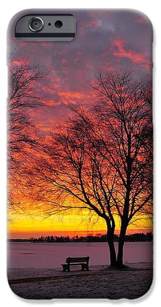 December Sunset iPhone Case by Terri Gostola