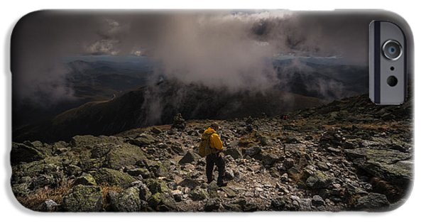 White Mountains iPhone Cases - Decend iPhone Case by Chris Fletcher